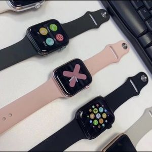 Series of bed sheet and apples wristwatch